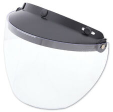 Snap-on Visor with Flip-up Face Shield Fits MOST 3 Snap Button DOT Helmets Wind