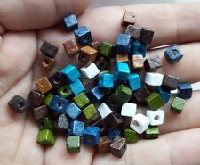 1000x cubic wood mixed colors Spacer Beads 5MM diy findings