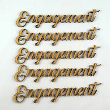 Engagement Word Cutout 5 pack MDF Laser Cut Wooden Craft Blank Family wedding