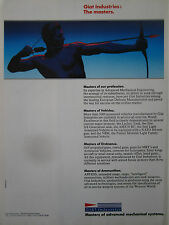 1991-92 PUB GIAT INDUSTRIES ORDNANCE AMMUNITION ARMOURED VEHICLE ARC ORIGINAL AD