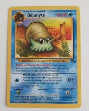 Pokemon Card Rare Omanyte Fossil Base Pack 1990s New Collectable Gift