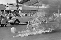 Saigon Vietnam-Buddhist Monk Burns Self to Death in Protest-1963 Photo
