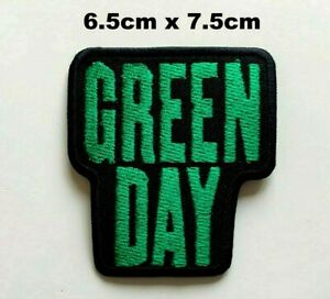 Green Day Pop Punk Pop Rock Music Band Embroidered Iron on Sew on Patch New