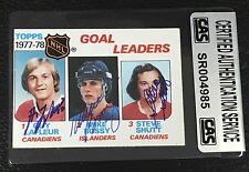 LaFLEUR, MIKE BOSSY, SHUTT 1978-79 TOPPS SIGNED AUTOGRAPHED CARD CAS AUTHENTIC