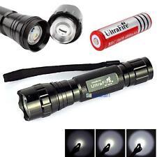 WF-501B 8000LM  X-XM-L T6 LED Flashlight Torch + 18650 Battery GL
