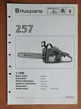 Ersatzteilliste HUSQVARNA Motorsäge Kettensäge 257 list chain saw 1996 Walbro