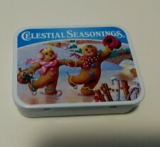Celestial seasonings tea tin 2002 Collection  Gingerbread Skaters Holiday