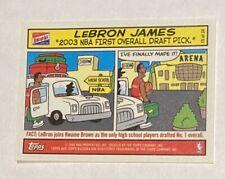 2003-04 TOPPS BAZOOKA LEBRON JAMES RC COMICS 15/25 NBA FIRST OVERALL DRAFT PICK