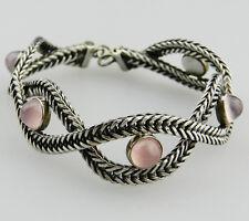 Sehr schönes altes Designer 835er Silber Armband mit Rosenquarz - B3030