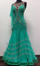 ccc4dc9399 B7603 Competition women Tango waltz smooth Quickstep dance dress UK 8 US 6  green