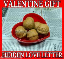 Fake Walnuts Heart for Hidden Secret Naughty Love Messages Letter Valentine Gift