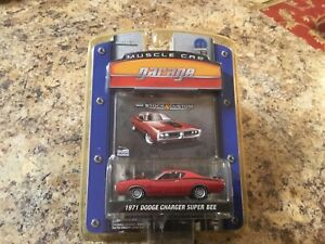 1971 Dodge Charger Super Bee Red Greenlight Muscle Car Garage New In Package