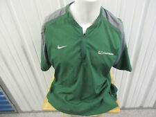 VINTAGE NIKE UM MIAMI HURRICANES FOOTBALL STAFF LARGE GREEN SEWN PULL OVER