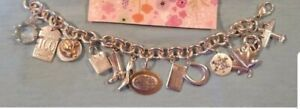 Tiffany & Co. 13 Multi Charm Sterling Silver Bracelet RARE VINTAGE CHARMS