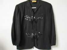 VINTAGE 1940's Black Blouse/Jacket with Sequins