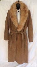 Vintage suede coat jacket A&F Originals New York full length women's size 14