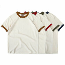 Men's Tee Shirts Heavy Weight T-Shirts Vintage Cotton Short Sleeve Casual Shirts