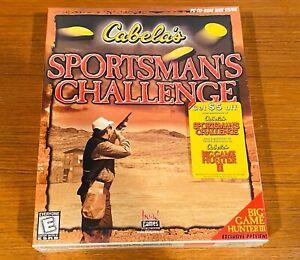 Vintage 1999 PC CABELA'S SPORTMAN'S CHALLENGE Computer Game - NEW NOS SEALED