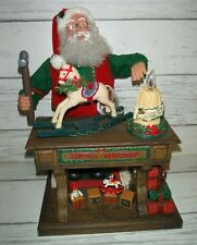 """Holiday Creations 1995 Animated Motion Musical Moving Santa Old Toymaker 20"""""""