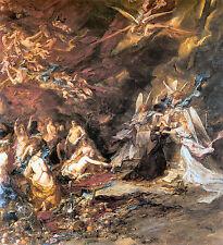 Old masters réimpression (v1f193) la tentation de St. Anthony 1869 par l.g.e. isabey