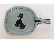 Mid Century Modernist Italian Art Pottery Ceramic Poodle Skillet Dish