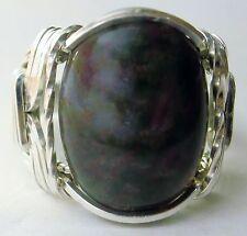 Bloodstone Gemstone Ring Sterling Silver Mens Ladies #3