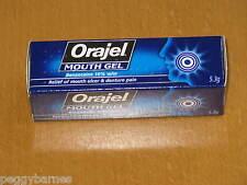 ORAJEL MOUTH GEL NEW/BOXED 5.3g EXPIRY 2020