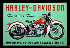 Vintage Harley-Davidson BICI VINTAGE MOTO TWIN IMMAGINE POSTER SEGNO 104