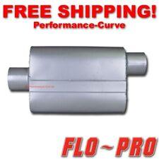 """2 Chamber Performance Exhaust Street Muffler FLO-PRO Super V - 3"""" C/O V43042"""