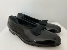 Mint Brooks Brothers Peal & Co. BLACK Patent Leather Formal Dress Loafers 10.5 D