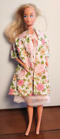 VINTAGE BARBIE DOLL OUTFIT - HANDMADE - HOUSE COAT - ROBE - DRESSING GOWN