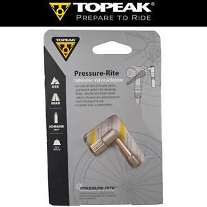 Topeak TSV-01 Pressure Rite Schrader Valve Adapter for Bike Forks/Shocks