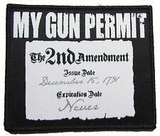MY GUN PERMIT 2ND AMENDMENT RIGHT TO BEAR ARMS USA 2A SWAT VELCRO® BRAND PATCH