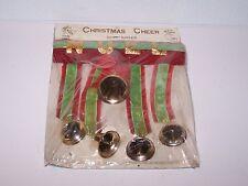 Vintage new in the package Christmas Cheer Door Ringer Noel 5 bells Nasco Japan
