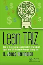 LEAN TRIZ - HARRINGTON, H. JAMES - NEW HARDCOVER BOOK