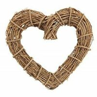 Natural Heart Twig Wreath 30cm Door Home Gift Wall Decoration Christmas Wedding