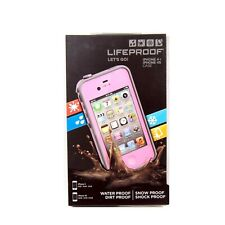 LIFEPROOF CASE FOR IPHONE 4 4S FRE WATER DUST SHOCK PROOF GENUINE PINK 1001-03