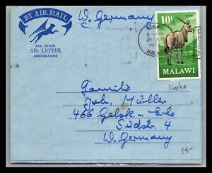 GP GOLDPATH: MALAWI COVER 1972 AIR MAIL _CV676_P06