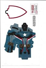 Marvel Comics, Captain America, Build your own Captain America cut out.  2 of 6,