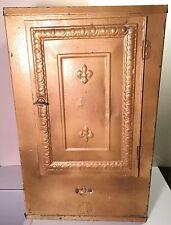 Antique Primitive Galvanized Metal Tin Pie Cake Safe Breadbox Large Cabinet