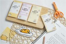 Set of 4 - 55pages / Pack Gudetama Egg To Do List / Memo / Writing Pad