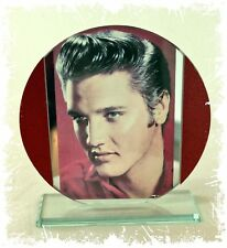 Elvis Presley 'In the Red' Cut Glass Round Plaque Music Fan Limited Edition  #1