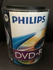 PHILIPS 4.7GB 16X DVD-R 100 Pack in Spindle with Handle DM4S6H00F/17