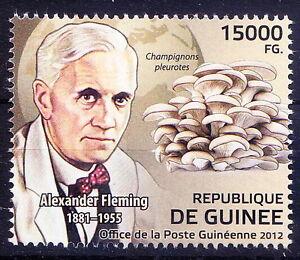Guinee Rep.MNH, Nobel Medicine, Fleming, Mushroms, Champignons Pleurotes