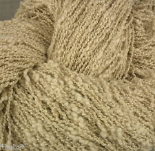 HUGE 500g HANK PURE COTTON SLUB FILIGREE YARN 4 PLY UNDYED ECRU NATURAL KNITTING