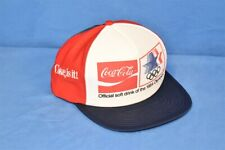 vintage 80s COCA COLA COKE IS IT 1984 OLYMPICS FOAM HAT CAP SNAPBACK ONE SIZE