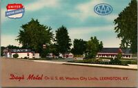 Lexington Kentucky~JB Day's Motel~Roadside Tourist Court~1940s Linen Postcard