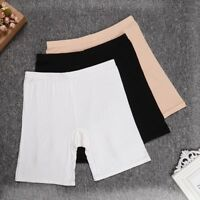 Women's Bamboo Fiber Elastic Underwear Briefs Lady's Safety Under Shorts Pants