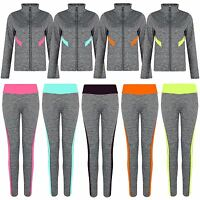 Women Active Wear Ladies Gym Sports or Jacket Leggings Zip Top Yoga Pants S-XL