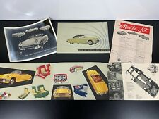 RARE Vintage 1950s MUNTZ JET KURTIS Sports Car Dealer Sales BROCHURE Catalog